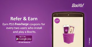GET UNLIMITED FREECHARGE CODES FROM Booyo APP REFER +