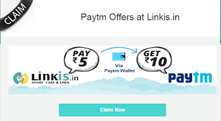 PAYTM PAY 5 GET 10 WITH LINKIS-( 5 KA 10)-MAY 2015