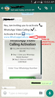 Whatsapp Video Calling Activation SMS is 100% Fake-Here is Reasons