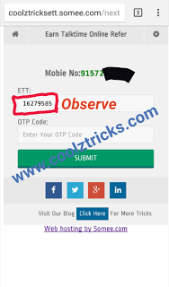 [*Exclusive*] COOLZTRICKS EARN TALKTIME ONLINE REFER & EARN WEB - Loot at Next Level - OCT'15