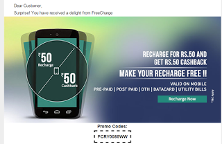 (*DHOOOM*) TRICK TO GET UNLIMITED FREECHARGE RS.50 CODES (WITHOUT DOING ANYTHING)