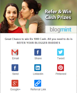 BLOGMINT REFER & EARN 1000 RS. FREE FOR BLOGGERS