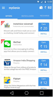 (*DHOOM*) GET RS.18 PER REFER REGISTER MYGENIE UNLIMITED FREE RECHARGE APP-OCT'15