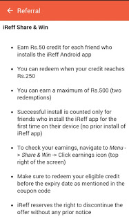 [*LOOT*] iReff APP TRICK - 50 RS. PAYTM / SHARE - DEC'15