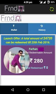 [*DHOOM*] FrndQ APP TRICK-EARN Rs.40 Mobikwik Cash Per Referral-DEC'15 (PROOF ADDED)