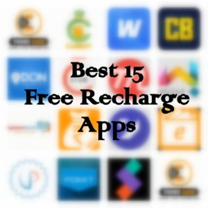 Best 15 Free Recharge Apps 2017