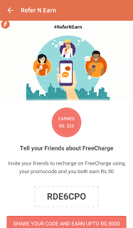 [*LOOT*] FREECHARGE APP TRICK-50 Rs. CB ON SIGN UP+REFER AND EARN-NOV'15