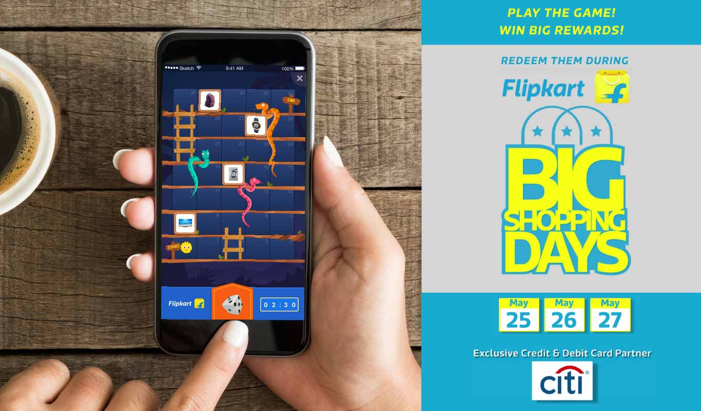 Flipkart App : Play Snake And Ladder Game - Win Exciting Prizes