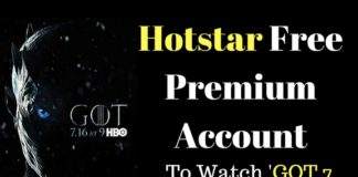 Hotstar Free Premium Account- Offers ,Watch 'GOT 7' For Free In India
