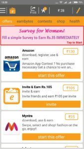 (New)Earn Talktime-Rs.20 on Signup+Fill Short Survey & Get Rs.35+Answers Added