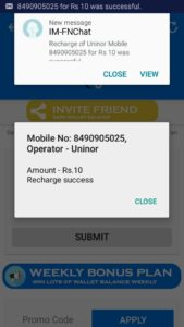 {Maha Loot} FunzChat App - Get Rs.10 Recharge Onstantly on Signup+Rs.10 per Refer+Proof-May'16