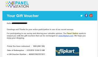 {*MAHA LOOT*} PANEL STATION SURVEY-GET UPTO RS.300 PAYTM FREECHARGE FK FOR FREE(+PROOF)-APR'16