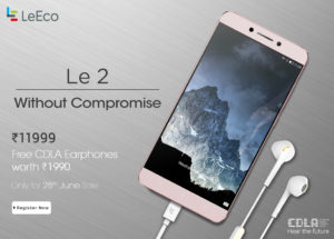 {*HOT*} Flipkart : LeEco Le 2 With 3 GB RAM|32 GB ROM - Registration Started