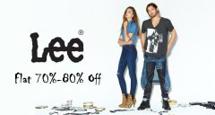 "*Super Loot* Amazon Buy ""Lee"" Clothings For 80% Off (Start From Rs.200)"