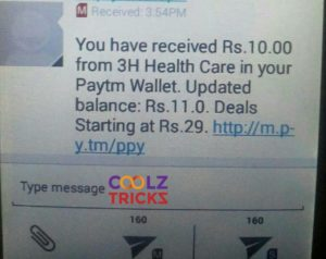 (*Loot*)Get Free Rs.10 Paytm Cash By Just Signing Up on 3HCare(Proof)