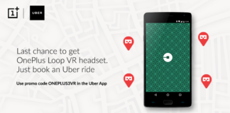 (Last Chance Today) Book Uber Ride & Get Free OnePlus Loop VR Headset Free
