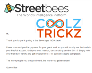 *HOT* StreetBees App : Complete Survey & Earn Free Rs.50 Paypal Cash + Proof Added