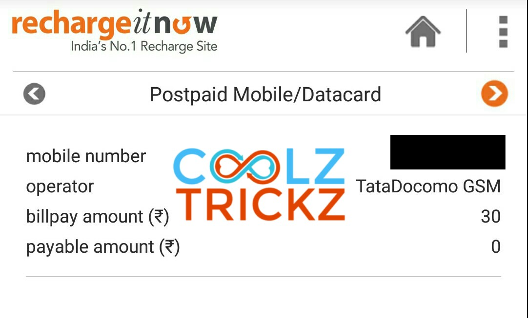 Over) RechargeItNow :- Get Rs 30 Free Recharge Absolutely Free