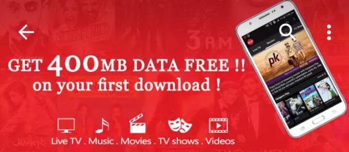 Vodafone App Offer–Get Free 400 MB Data & 3 Months TV Subscription
