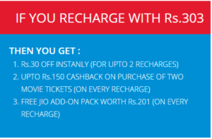 (BooM) Paytm Jio Offers -Recharge Jio 4G Pack & Get Free Benefits Of Rs.381