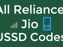 Reliance Jio USSD Codes