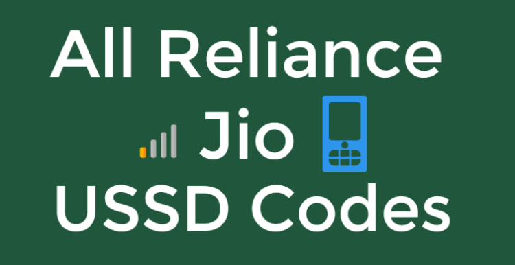 All Codes) Jio 4G USSD Codes - Instantly Check Balance,Data