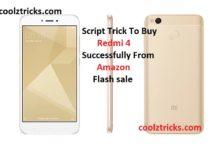 (Script) Tricks to Buy Xiaomi Redmi 4 Successfully In Flash Sale