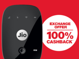 Buy JioFi With 100% Cashback In New Jio Offer - Full Details