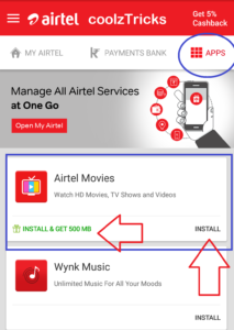 Loot Lo) Airtel Free 500 MB 4G Data For 30 Days Instantly In