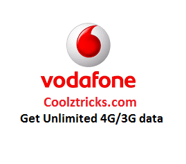 (Biggest Loot) Vodafone Internet Tricks To Get Unlimited 4G/3G Data(1000GB+)