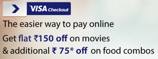 (Tubelight) BookMyShow-Book Movie Ticket Almost For Free With Visa Checkout