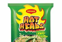 Amazon Maggi Hotheads Noodles, Green Chilli(Pack of 10)-Just Rs.125