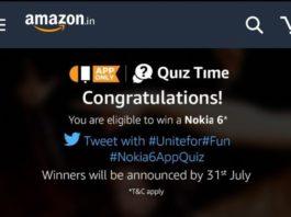 Amazon Nokia 6 Quiz - Win Total 6 Nokia 6 Phones (Answers Added)