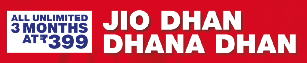 New Jio Dhan Dhana Dhan Offer- Another Free 3 Months Plans