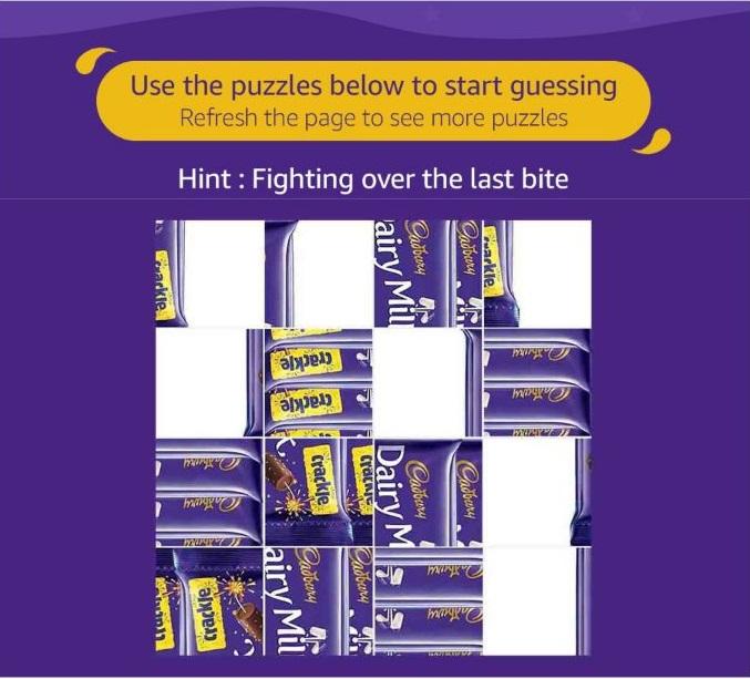 All Answers) Amazon Cadbury Contest Quiz- Solve & Win Rs