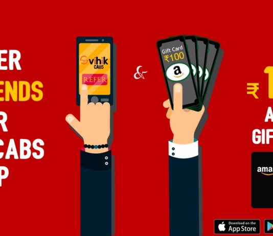 (Loot) Vihik Cabs- Refer 7 Friends And Get Rs.100 Amazon Voucher
