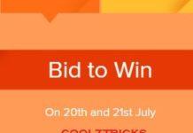 Xiaomi Rs.1 Sale-How To Bid To Win Free Mi SmartPhones(3rd Anniversary)
