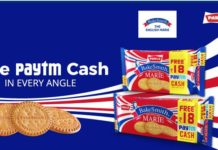 PayTM Parle Bakesmith Offer - Get Free Rs.18 PayTM Cash On Each Pack