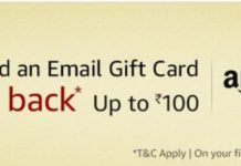 Amazon-Get Upto Rs.100 Cashback On Purchase Of Gift Cards