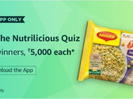 (Answer Added)Amazon NutriLicious Quiz - Answer And Win Rs 5000 Amazon Pay balance