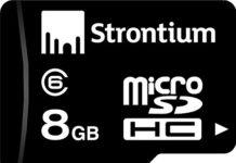 Amazon -Buy Strontium 8GB MicroSDHC Class 6 Memory Card Just Rs 299