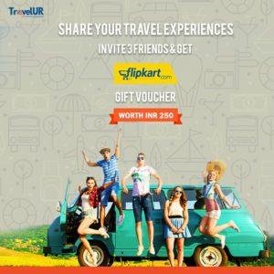 (Loot) TravelUR-Refer 3 friends and get Rs.250 Flipkart Voucher