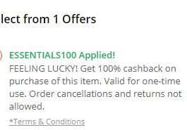 PayTM 100% CB Loot- Get This Items For Free (All Users)