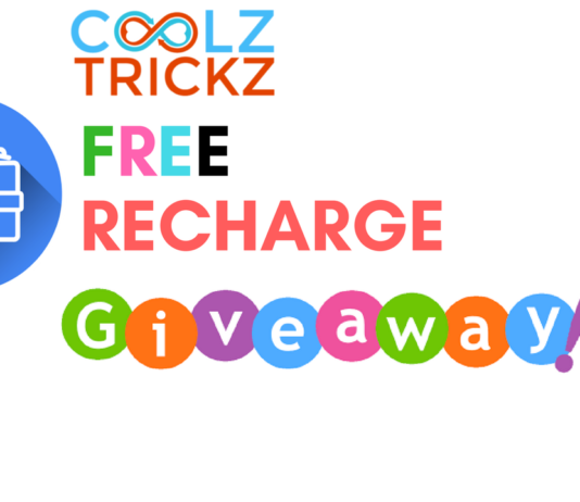 """CoolzTricks Sunday """"Free Recharge"""" Giveaway -Win Free Recharge"""