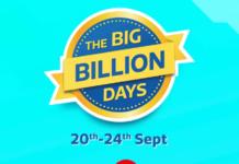 Flipkart Big Billion Days: Get Loot Deals And Huge Discounts(20-24 Sept)