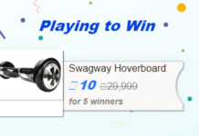 [NEW] Flipkart: Win SWAGWAY Hoverboard Worth Rs.29,999 For Just Rs.10