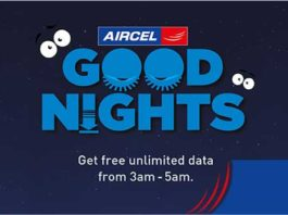 Aircel Free Internet - Get Unlimited Data in Rs 0 (3 am to 5 am)