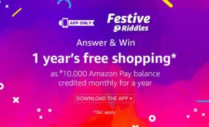 Today) Amazon Festive Riddles Quiz-Answer & Win Free Shopping