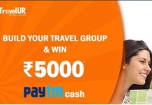 (100% Genuine) TravelUR-Refer 3 friends and get Rs.100 PayTM Cash