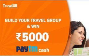 (100% Genuine) TravelUR-Refer 3 friends and get Rs.100 PayTM Cash
